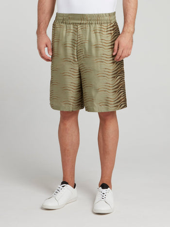Khaki Tiger Pant Shorts