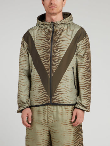 Tiger Print Drawstring Jacket