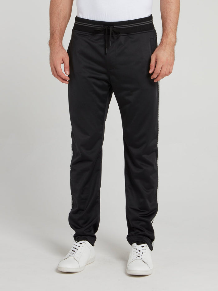 Black Casual Track Pants