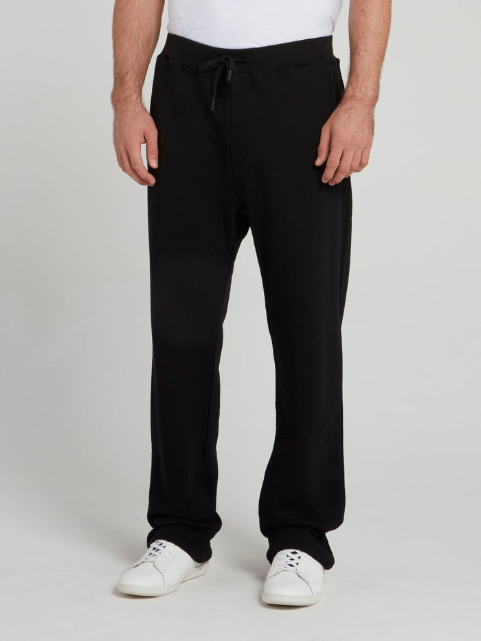 Black Drawstring Woven Pants