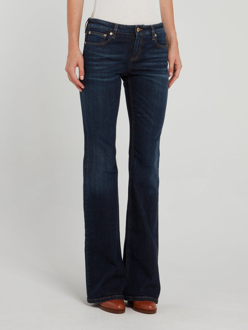 Navy Flared Denim Jeans