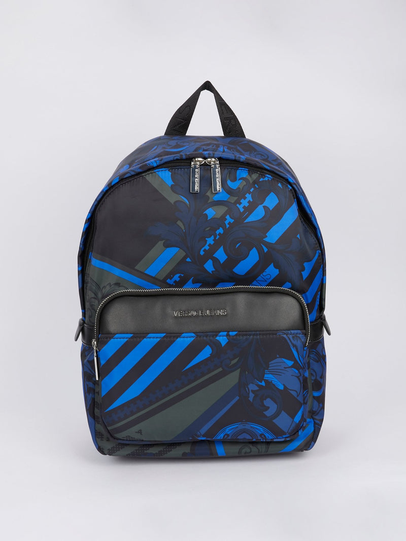 Navy Baroque Print Backpack
