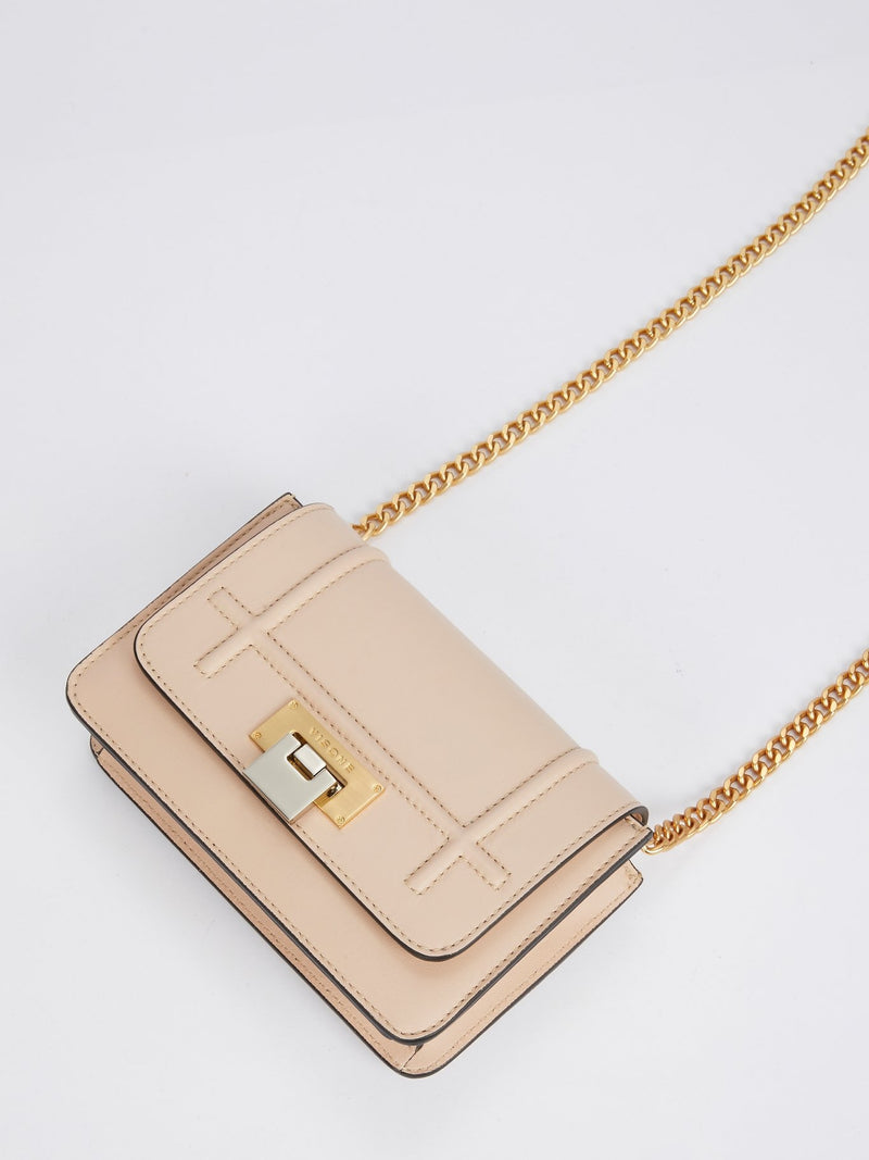 Lizzy Beige Leather Mini Bag