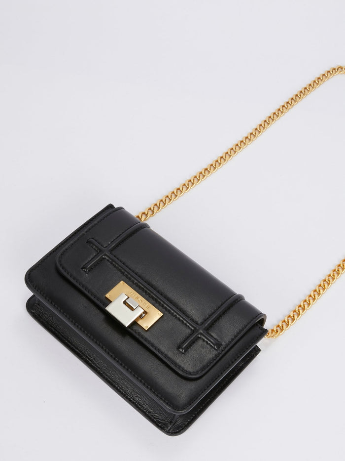 Lizzy Black Leather Mini Bag