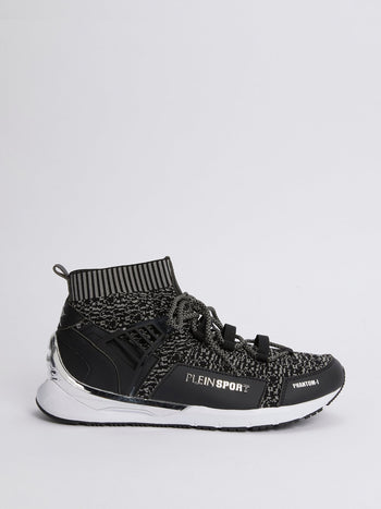 PHANTOM-I Black Sock Sneakers