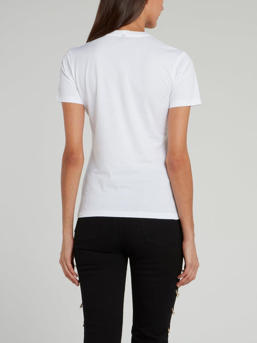 White Logo Crewneck T-Shirt