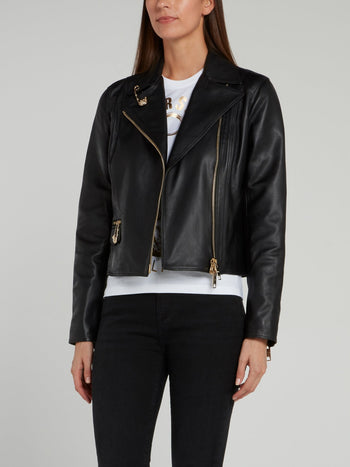 Black Leather Blouson