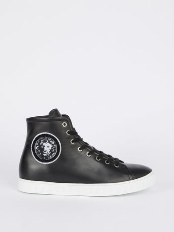 Black Monogram High Top Sneakers