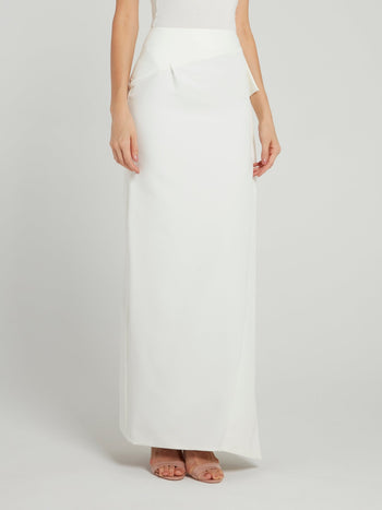 White Wrap Maxi Skirt
