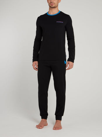 Black Jersey Cotton Loungewear