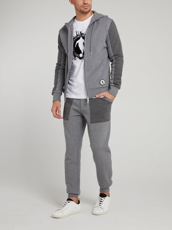 Grey Knitted Tracksuit