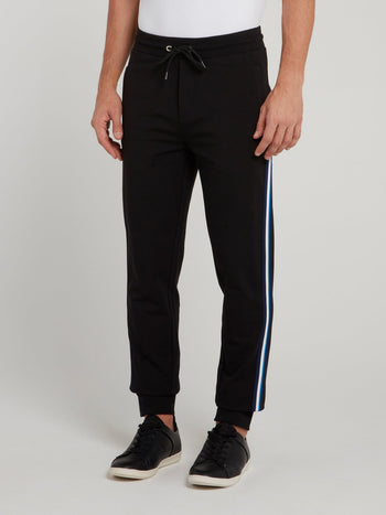 Black Side Stripe Fleece Pants