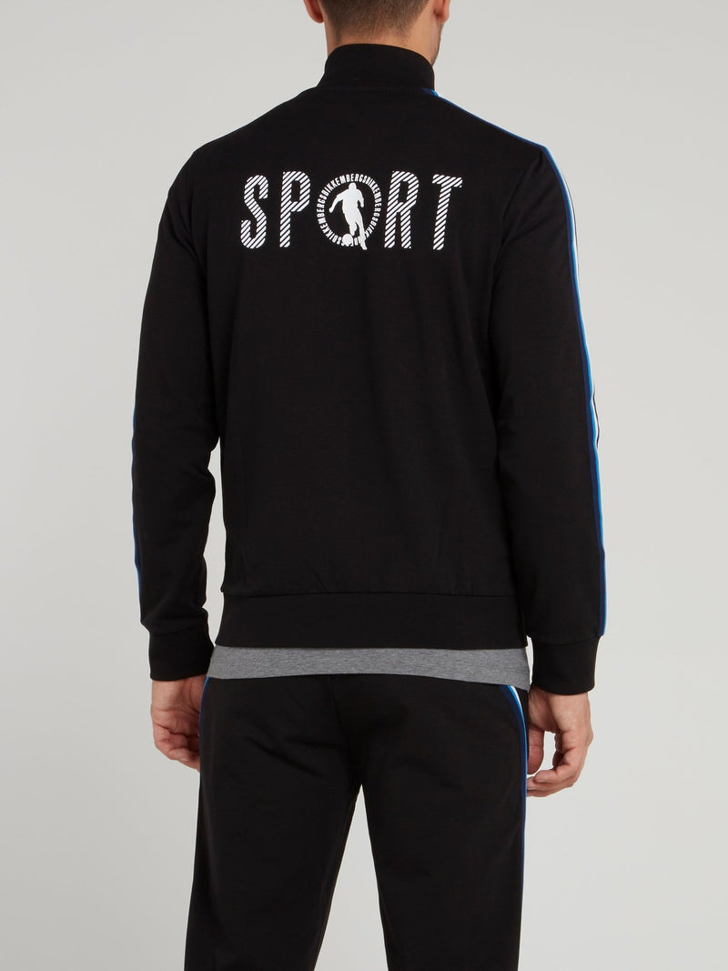 Black Sport Logo Jacket