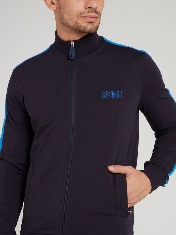 Navy Sport Logo Jacket
