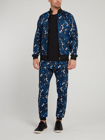 Navy Camo Fleece Pants