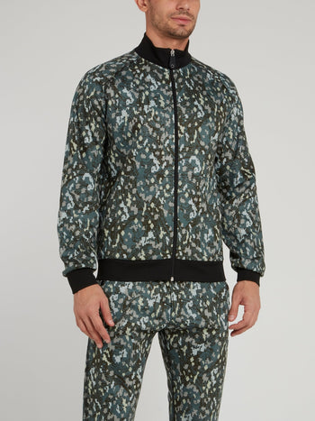 Green Camo High Neck Jacket