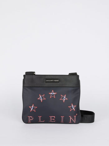 Navy Logo Crossbody Bag