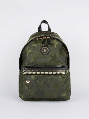 Star Camo Embellished Backpack