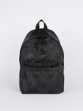 Black Star Print Backpack