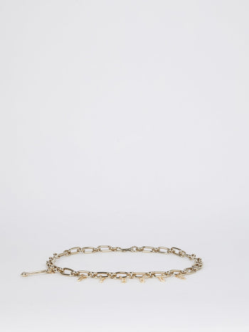 Logo Embellished Chain Belt