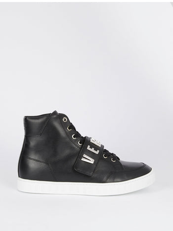 Black High Top Rubber Sole Sneakers