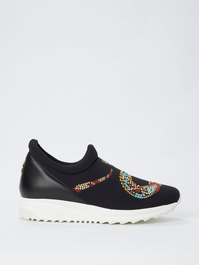 Multi-Stud Snake Slip On Sneakers