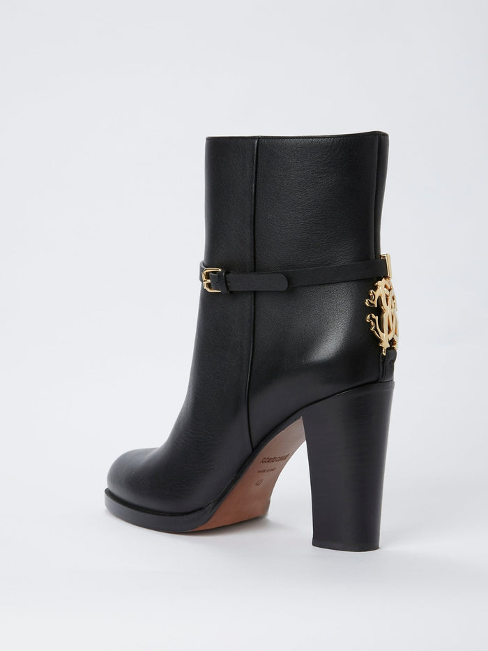 Black Rear Logo Ankle Boots