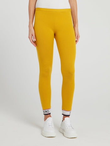 Mustard Yellow Knitted Leggings