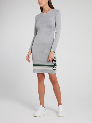 Metallic Viscose Sweater Dress