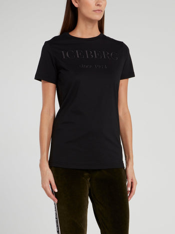 Black Classic Embroidered Logo T-Shirt