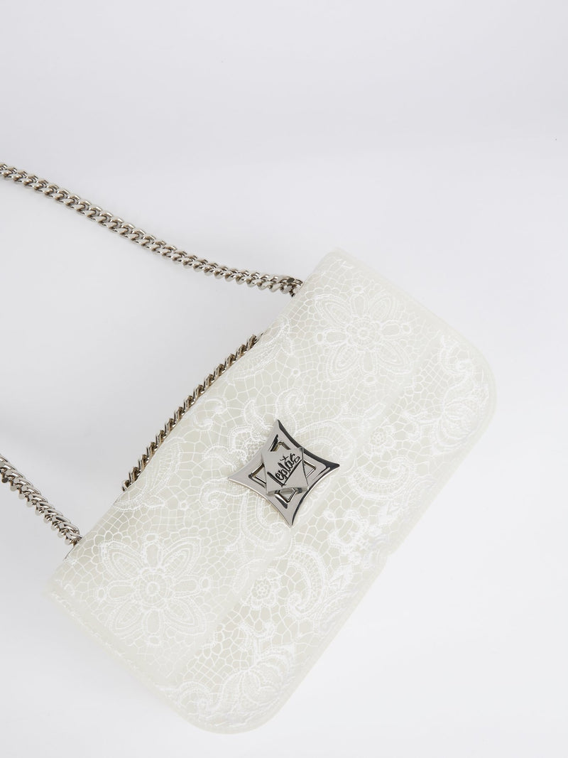 White Elide Lace Fondo Shoulder Bag