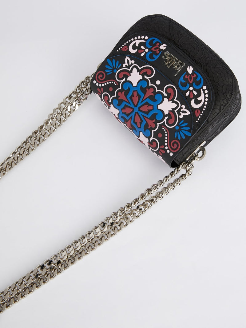 Multicolour Rosa Mini Dafne Aazulejos Shoulder Bag