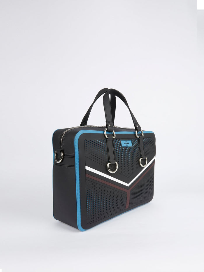 Black-Blue Nikandros Sporty Duffle Bag