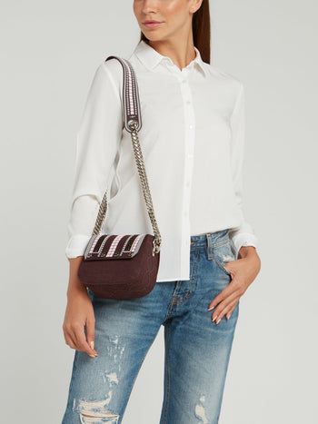 Plum Mini Dafne Borchie Shoulder Bag