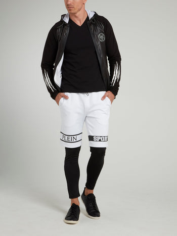 Contrast Statement Jogging Leggings