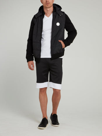 Night Runner Black Jogging Shorts