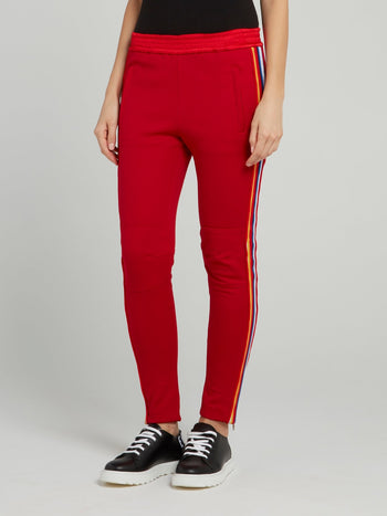 Red Side Stripe Active Trousers