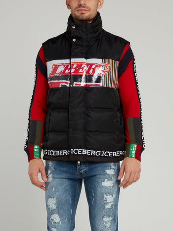 Black Quilted Funnel Jacket