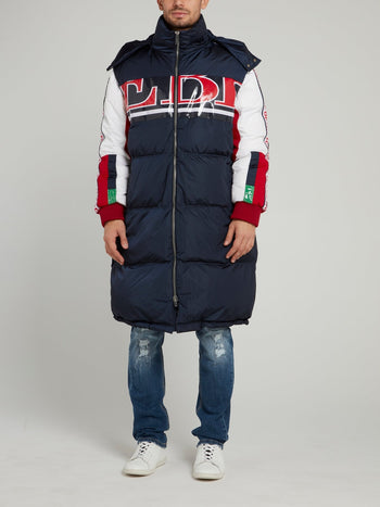 Navy Oversized Puffer Jacket