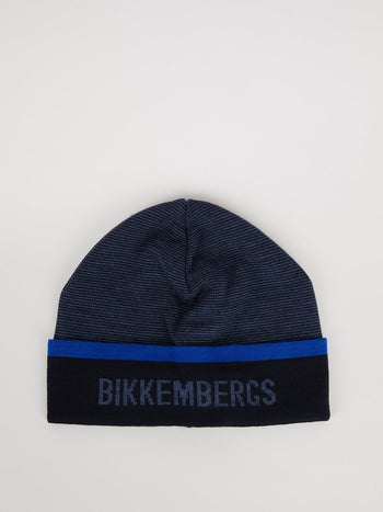 Navy Knitted Logo Beanie