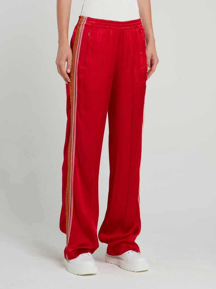 Red Waistband Jogging Trousers