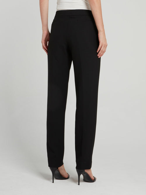Black Sculpted Tailoring Peg Pants