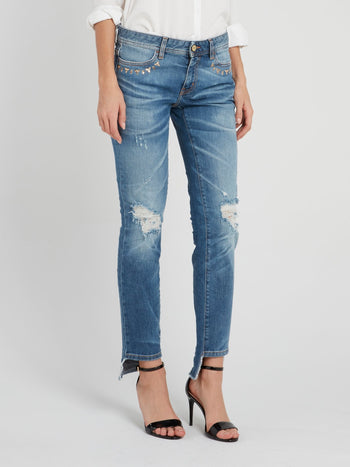 Straight Fit Ripped Jeans