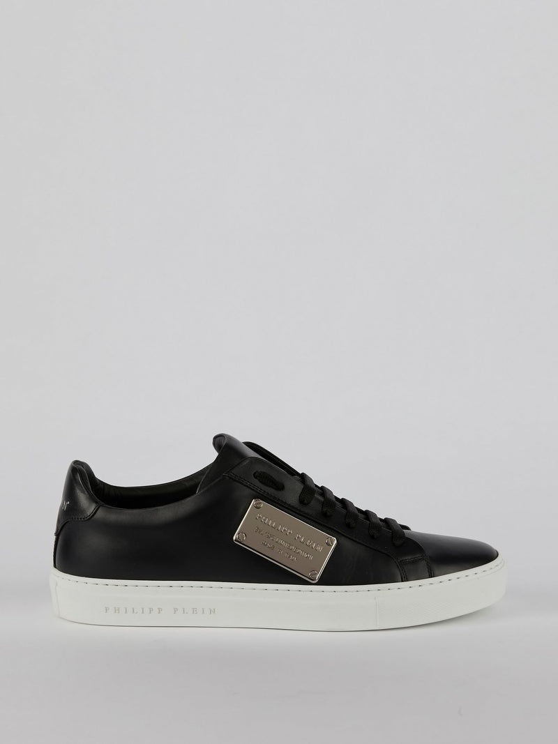 Ferdy Black Logo Tag Sneakers