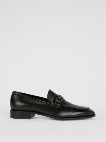 Black Classic Leather Loafers