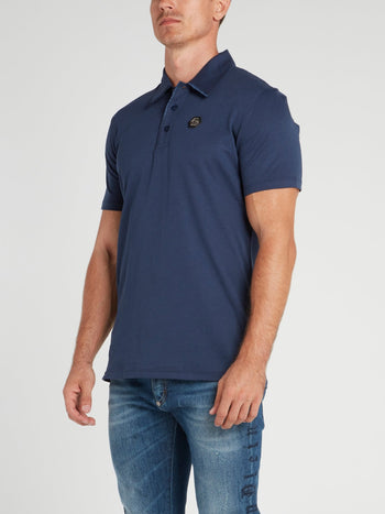 Navy Appliquéd Polo Shirt