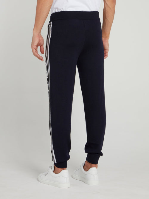 Navy Knitted Wool Pants