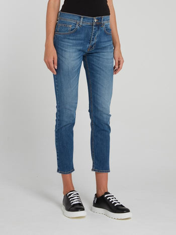Skinny Denim Capri Pants