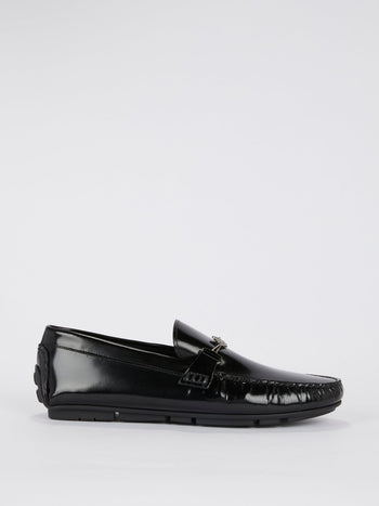 Black Patent Leather Moccasins
