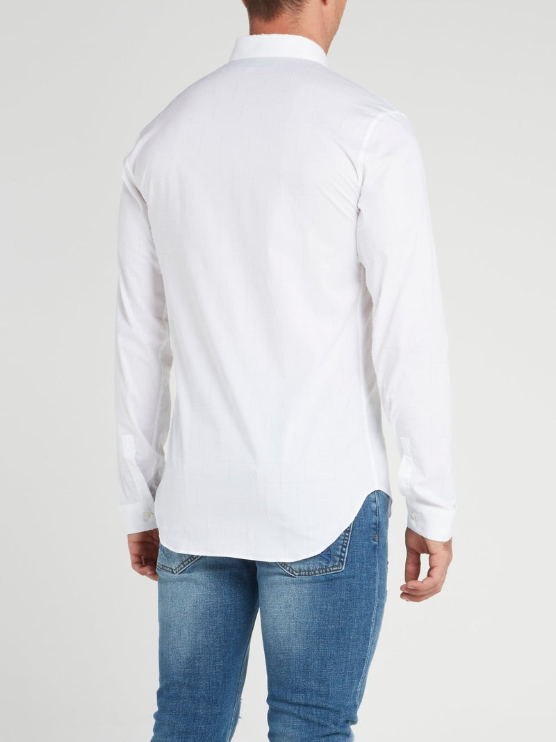 White Crystal Cut Shirt